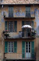 Europe/France/Provence-Alpes-Côtes d'Azur/06/Alpes-Maritimes/Alpes-Maritimes/Arrière Pays Niçois/Sospel : Détail des vieilles maisons sur les bords de la Bevera