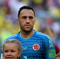 SAMARA - RUSIA, 28-06-2018: David OSPINA arquero de Colombia durante los actos protocolarios previo al partido de la primera fase, Grupo H, entre Senegal y Colombia por la Copa Mundial de la FIFA Rusia 2018 jugado en el estadio Samara Arena en Samara, Rusia. / David OSPINA goalkeeper of Colombia during the formal events prior the match between Senegal and Colombia of the first phase, Group H, for the FIFA World Cup Russia 2018 played at Samara Arena stadium in Samara, Russia. Photo: VizzorImage / Julian Medina / Cont