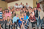 21ST BIRTHDAY: Thomas Conway, Rahoonane (seated 2nd from right) celebrated his 21st birthday last Saturday night in The Greyhound Bar, Tralee, with many friends and family..