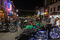 ROT Biker Rally: Texas' Biggest Biker Gathering to Flood Streets of Austin. The event has drawn as many as 35,000 paying customers to the event grounds. City officials have estimated that the Friday night street party downtown draws as many as 200,000 spectators thus making it one of the largest motorcycle rallies of any kind in the country.