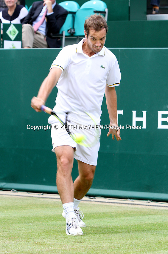 Richard Gasquet (France) plays Juan Martin Del Potro (Argentina) at The Boodles Tennis Challenge held at Stoke Park, Buckinghamshire, UK - June 21st 2013<br /> <br /> Photo by Keith Mayhew