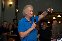 Tim Martin, the owner of JD Wetherspoon chain of pubs, speaks about Brexit at the The Bank Statement public house in Swansea, Wales, UK. Tuesday 15 January 2019