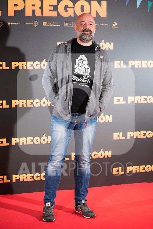 "Goyo Jimenez during the presentation of the film ""El Pregón"" in Madrid, March 15, 2016<br /> (ALTERPHOTOS/BorjaB.Hojas)"