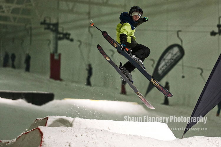 Pix: Shaun Flannery/shaunflanneryphotography.com<br /> <br /> COPYRIGHT PICTURE&gt;&gt;SHAUN FLANNERY&gt;01302-570814&gt;&gt;07778315553&gt;&gt;<br /> <br /> 6th February 2015<br /> Snozone Castleford<br /> Sochi Freestyle Competition<br /> Mason Flannery
