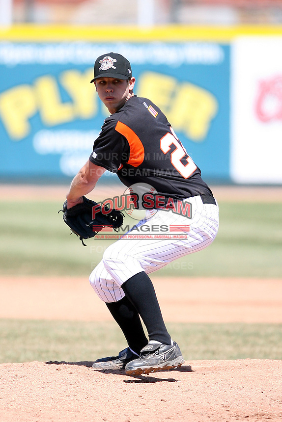 April 15th 2008:  Pitcher Casey Fien (22) of the Erie Seawolves, Class-AA affiliate of the Detroit Tigers, during a game at Jerry Uht Park in Erie, PA.  Photo by:  Mike Janes/Four Seam Images