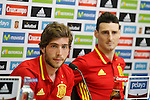 Sergi Roberto (l) and Aritz Aduriz in press conference during Spanish national football team staff. March 21,2016. (ALTERPHOTOS/Acero)