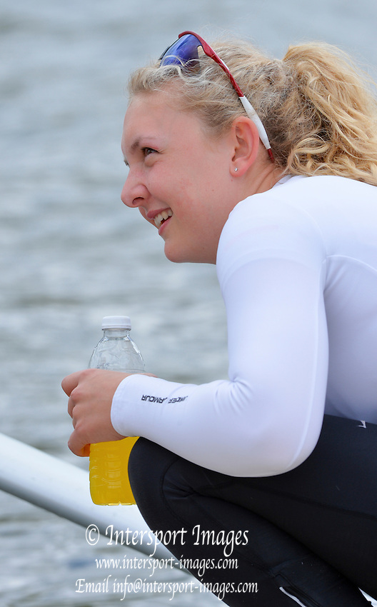 Reading. United Kingdom.  GBR W1X, Jessica LEYDEN,  2014 Senior GB Rowing Trails, Redgrave and Pinsent Rowing Lake. Caversham.<br /> <br /> 13:22:39  Saturday  19/04/2014<br /> <br />  [Mandatory Credit: Peter Spurrier/Intersport<br /> Images]