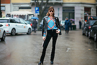 Ece Sukan at Milan Fashion Week (Photo by Hunter Abrams/Guest of a Guest)