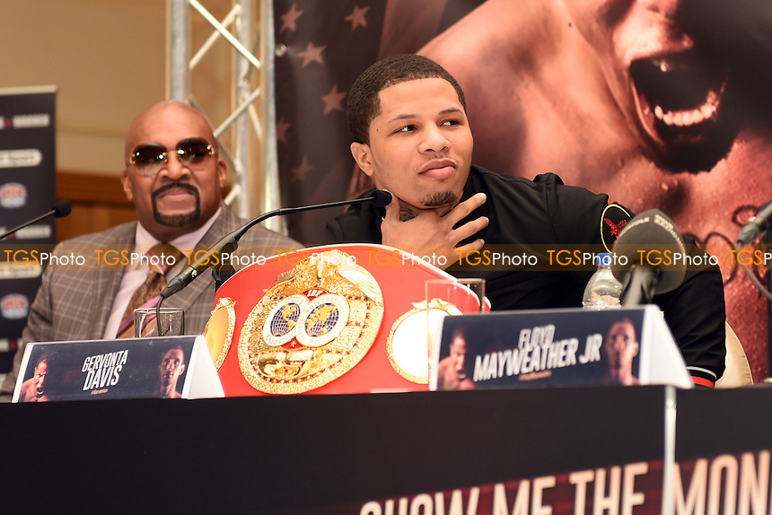Gervonta Davis during a Press Conference at the Savoy Hotel on 7th March 2017