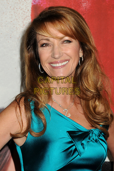 "JANE SEYMOUR .""Waiting For Forever"" Los Angeles Premiere held at Pacific Theatres at The Grove, Los Angeles, California, USA, .1st February 2011..portrait headshot smiling  blue teal silk satin one shoulder  bow knotted silver necklace .CAP/ADM/BP.©Byron Purvis/AdMedia/Capital Pictures."