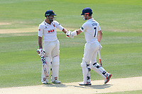 Ravi Bopara (L) and James Foster of Essex during Essex CCC vs Warwickshire CCC, Specsavers County Championship Division 1 Cricket at The Cloudfm County Ground on 20th June 2017