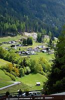 Homes in Alpine village, Wenns. Piller, Imst area, Tyrol, Austria.