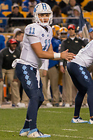 North Carolina quarterback Nathan Elliott. The North Carolina Tarheels defeated the Pitt Panthers football team 34-31 at Heinz Field, Pittsburgh, Pennsylvania on November 9, 2017.