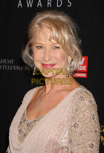 Helen Mirren.BAFTA Los Angeles 2011 Britannia Awards held at the Beverly Hilton Hotel, Beverly Hills, California, USA..November 30th, 2011.headshot portrait pink silver beads beaded gold .CAP/ROT/TM.©Tony Michaels/Roth Stock/Capital Pictures