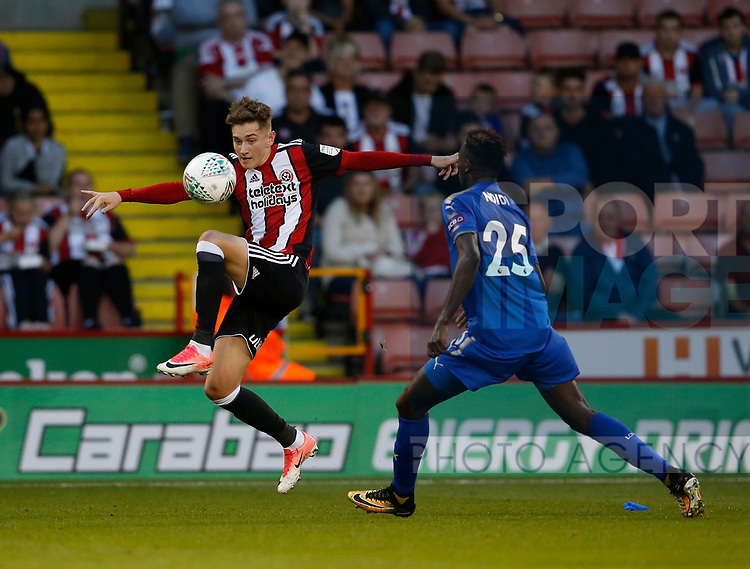 David Brooks of Sheffield Utd during the Carabao Cup, second round match at Bramall Lane, Sheffield. Picture date 22nd August 2017. Picture credit should read: Simon Bellis/Sportimage