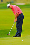 29 August 2009: Paul Goydos putts during the third round of The Barclays PGA Playoffs at Liberty National Golf Course in Jersey City, New Jersey.