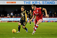 Peter Pawlette of MK Dons and Joe Maguire of Crawley Town during Crawley Town vs MK Dons, Sky Bet EFL League 2 Football at Broadfield Stadium on 3rd November 2018