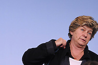 roma, 20 Marzo 2012.Palazzo chigi.Conferenza stampa dopo l'incontro tra il governo e le parti sociali sulla riforma del Mercato del lavoro.Il segretario della CGIL Susanna Camusso