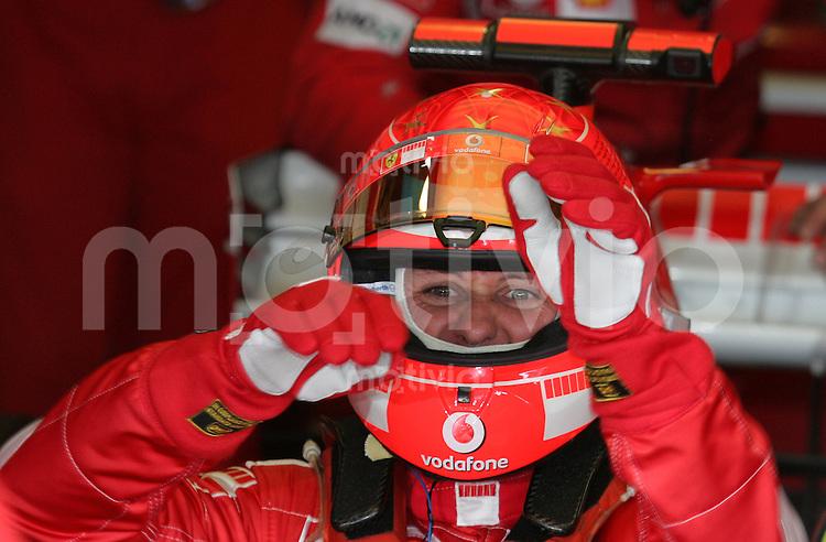 Sport Formel 1 Grand Prix von Brasilien in Sao Paulo  20.10.06 Michael Schumacher (GER, Ferrari).