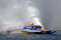 "Martin Rochon, GP-77 ""Coppertone Sport"" (Grand Prix Hydroplane(s)<br /> <br /> Régates de Valleyfield<br /> Salaberry Valleyfield, Québec Canada <br /> 10-12 July, 2015<br /> <br /> ©2015, Sam Chambers"
