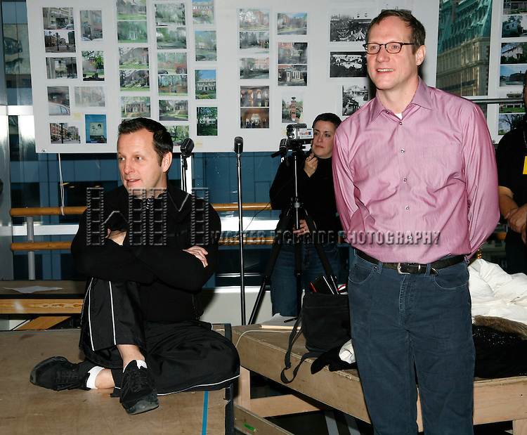 Rob Ashford (Choerographer) & Mark Brokaw (Director).attending the Meet & Greet the Cast & Creative Team of the Primary Stages production of the Willy Holtzman play SOMETHING YOU DID  held at the Primary Stages Rehearsal studio in New York City..February 19, 2008.© Walter McBride /