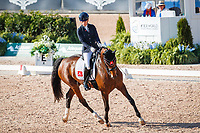 NED-Rixt van der Horst rides Findsley during the FEI World Freestyle Para Dressage Championships - Grade III. 2018 FEI World Equestrian Games Tryon. Saturday 22 September. Copyright Photo: Libby Law Photography