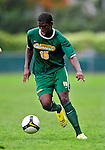13 September 2009: University of Vermont Catamount forward Alassane Kane, a Freshman from Macon, GA, in action against the University of Massachusetts Minutemen during the second round of the 2009 Morgan Stanley Smith Barney Soccer Classic held at Centennial Field in Burlington, Vermont. The Catamounts and Minutemen battled to a 1-1 double-overtime tie. Mandatory Photo Credit: Ed Wolfstein Photo