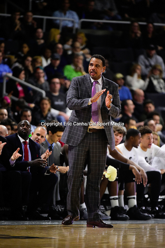 Wednesday, January 4, 2016: Providence Friars head coach Ed Cooley watches game action during the NCAA basketball game between the Georgetown Hoyas and the Providence Friars held at the Dunkin Donuts Center, in Providence, Rhode Island. Providence defeats Georgetown 76-70 in regulation time. Eric Canha/CSM