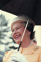 Her Majesty Queen Elizabeth II visits Mansfield in 1990 at the laying of the foundation stone for Portland College's 'The Laurels'. Queen Elizbeth is the College's patron and laid the foundation stone as Princess back in July 1949