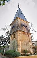 Chateau St Jean d'Aumieres, Gignac village. Terrasses de Larzac. Languedoc. dove cote. France. Europe.