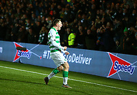 4th March 2020; Almondvale Stadium, Livingston, West Lothian, Scotland; Scottish Premiership Football, Livingston versus Celtic; Callum McGregor of Celtic celebrates after he makes it 1-0 to Celtic in the 16th minute of the match