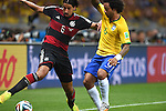 Sami Khedira (GER), Marcelo (BRA),<br /> JULY 8, 2014 - Football / Soccer : FIFA World Cup 2014 semi-finals match between Brazil 1-7 Germany at Mineirao stadium in Belo Horizonte, Brazil.<br /> (Photo by FAR EAST PRESS/AFLO)