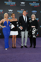 19 April 2017 - Hollywood, California - Taylor Ann Hasselhoff, Hayley Roberts, actor David Hasselhoff and Hayley Hasselhoff . Premiere Of Disney And Marvel's &quot;Guardians Of The Galaxy Vol. 2&quot; held at Dolby Theatre. <br /> CAP/ADM/PMA<br /> &copy;PMA/ADM/Capital Pictures