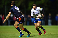 Darren Atkins of Bath Rugby in possession. Pre-season friendly match, between Edinburgh Rugby and Bath Rugby on August 17, 2018 at Meggetland Sports Complex in Edinburgh, Scotland. Photo by: Patrick Khachfe / Onside Images