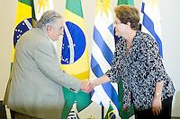 BRASÍLIA, DF, 07.11.2014 - POLÍTICA - A Presidente da República, Dilma Rousseff, recebeu na tarde desta terça-feira (7), no Palácio do Planalto, o Presidente do Uruguai, José Mujica. (Foto: Pedro França/ Brazil Photo Press)