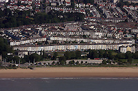 Aerial view of houses in Brynmill Swansea