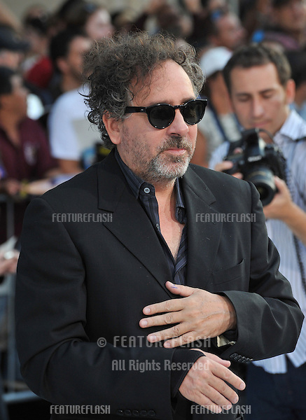"""Director Tim Burton at the premiere of his movie """"Frankenweenie"""" at the El Capitan Theatre, Hollywood..September 24, 2012  Los Angeles, CA.Picture: Paul Smith / Featureflash"""