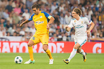 Real Madrid's Luka Modric and Apoel's Nuno Morais during UEFA Champions League match between Real Madrid and Apoel at Santiago Bernabeu Stadium in Madrid, Spain September 13, 2017. (ALTERPHOTOS/Borja B.Hojas)