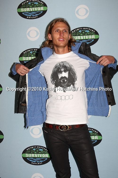 "Tyson Apostol.arrivng at the ""Survivor"" 10 Year Anniverary Party .CBS Television CIty.Los Angeles, CA.January 9, 2010.©2010 Kathy Hutchins / Hutchins Photo...."