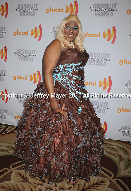 CENTURY CITY, CA. - April 17: Jaila Simms arrives at the 21st Annual GLAAD Media Awards at the Hyatt Regency Century Plaza Hotel on April 17, 2010 in Los Angeles, California.