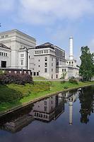 Oper und Pilsetas Kanals  in Riga, Lettland, Europa, Unesco-Weltkulturerbe