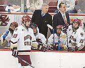 Benn Ferreiro, Brian Boyle, Matt Greene, Jerry York, Nathan Gerbe, Mike Cavanaugh, Stephen Gionta - The Boston College Eagles and University of New Hampshire earned a 3-3 tie on Thursday, March 2, 2006, on Senior Night at Kelley Rink at Conte Forum in Chestnut Hill, MA.  Boston College honored its three seniors, captain Peter Harrold and alternate captains Chris Collins and Stephen Gionta, before the game.
