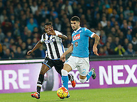 Elseid Hysaj  during the  italian serie a soccer match,between SSC Napoli and Udinese      at  the San  Paolo   stadium in Naples  Italy , November 08, 2015