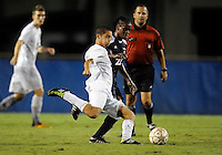 Florida International University men's soccer player Esteban Castro (13) plays against Florida Atlantic University on August 28, 2011 at Miami, Florida.  The game ended in a 1-1 overtime tie. .