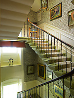 Original paper from the 1920s has been preserved on the staircase of this restored Georgian country house