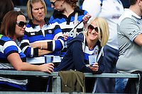 A Bath Rugby supporter in the crowd. Aviva Premiership match, between Bath Rugby and Newcastle Falcons on September 10, 2016 at the Recreation Ground in Bath, England. Photo by: Patrick Khachfe / Onside Images
