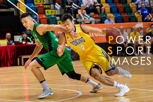 Fong Shing Yee #22 of Winling Basketball Club goes to the basket against the Tycoon during the Hong Kong Basketball League playoff game between Winling and Tycoon at Queen Elizabeth Stadium on July 24, 2018 in Hong Kong. Photo by Marcio Rodrigo Machado / Power Sport Images