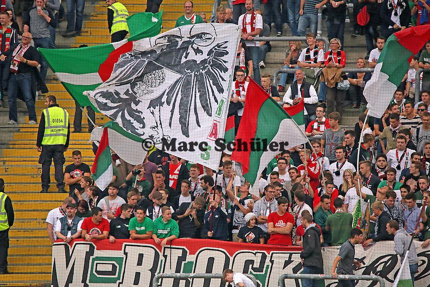 Fans des FC Augsburg - Eintracht Frankfurt vs. FC Augsburg, Commerzbank Arena