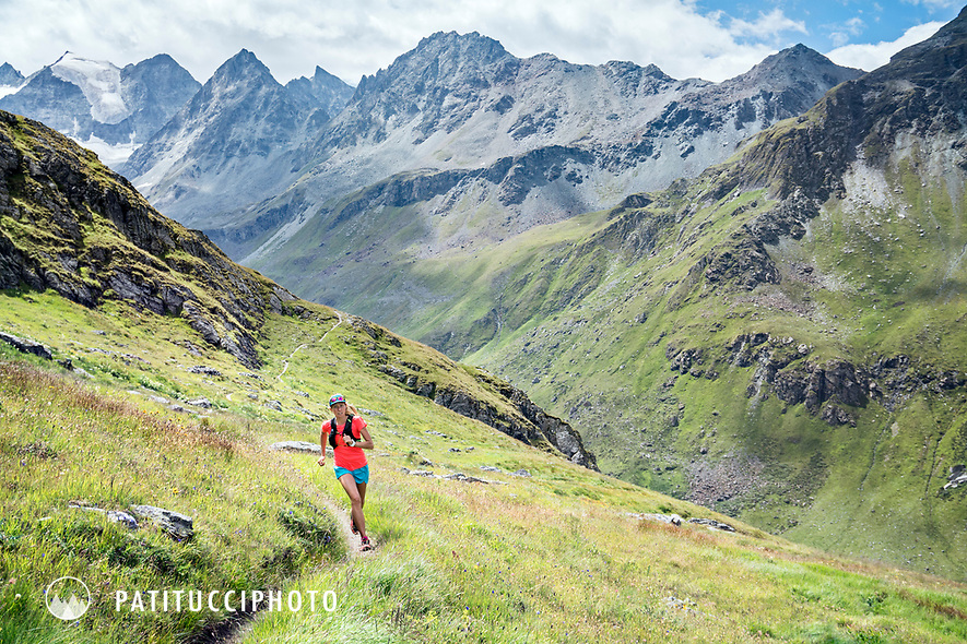 Trail running near Lac de Moiry, Switzerland