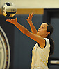 Olivia D'Antonio #5 of Wantagh serves during the Nassau County varsity girls volleyball Class A semifinals against Lawrence at Massapequa High School on Monday, Nov. 7, 2016. Wantagh won 3-1.